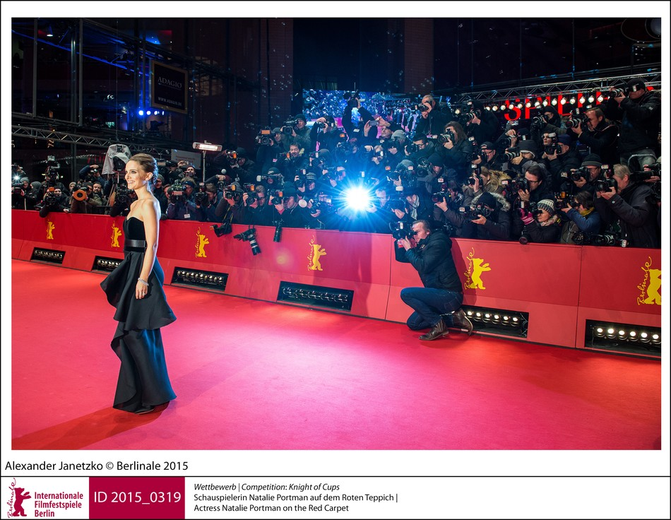 Natalie Portman im Blitzlichtgewitter