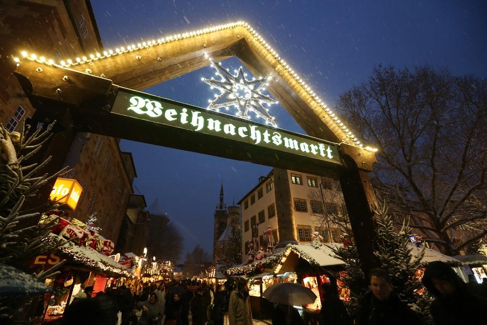 Eingang Stuttgarter Weihnachtsmarkt